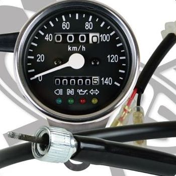 SR400/SR500 サイドマウントメーターキット Φ60インジゲーターランプ付き(ドラム) GOODS(モーターガレージグッズ)