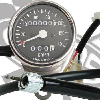 SR400/SR500(01~02年) サイドマウントメーターキット Φ60 トリップ付き GOODS(モーターガレージグッズ)