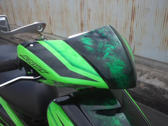 シグナスX(CYGNUS-X)SE12J フロントマスク FRPカーボン M-DESIGN(エムデザイン)