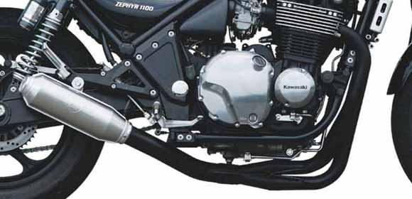 ゼファー1100(ZEPHYR) モンスターマフラー ブラック MORIWAKI(モリワキ)