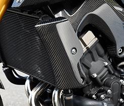 MT-09(14年) ラジエターシュラウド 綾織りカーボン製 MAGICAL RACING(マジカルレーシング)
