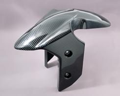 Ninja250R(ニンジャ)08~12年 フロントフェンダー(フォークガード一体形状)平織りカーボン製 MAGICAL RACING(マジカルレーシング)