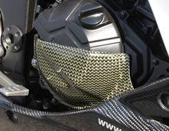 Z250(13年) ジェネレーターカバー 平織りカーボン製 MAGICAL RACING(マジカルレーシング)