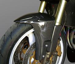 Z1000(03~06年) フロントフェンダー(エアロフォークガード付)綾織りカーボン製 MAGICAL RACING(マジカルレーシング)