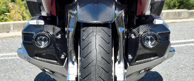 GL1800 ゴールドウイング(18年) フォグライトカバー(左右セット)/綾織りカーボン製 MAGICAL RACING(マジカルレーシング)