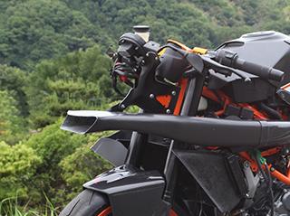 KTM RC390(14~16年) ラムエアダクト・フロント/FRP製・黒 MAGICAL RACING(マジカルレーシング)