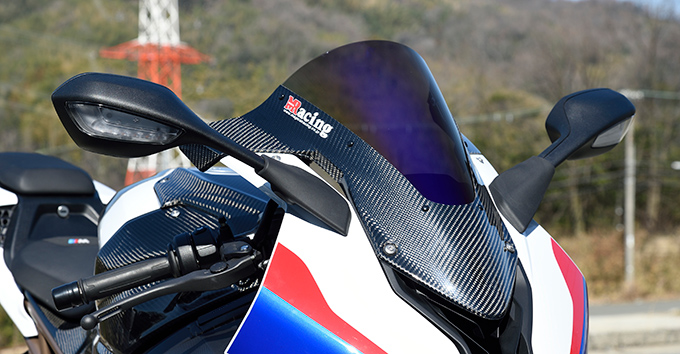 BMW S1000RR(19年) カーボントリムスクリーン/平織りカーボン製/スーパーコートスクリーン MAGICAL RACING(マジカルレーシング)