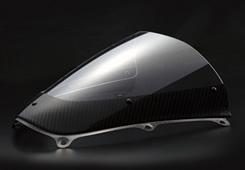 CBR600RR(05~06年) カーボントリムスクリーン 綾織カーボン製/クリア MAGICAL RACING(マジカルレーシング)