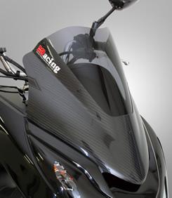 PCX125(10~11年) カーボントリムスクリーン/カーボン仕様 綾織りカーボン製/クリア MAGICAL RACING(マジカルレーシング)