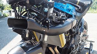 Ninja250(ニンジャ250)18年 レーシングボディーワーク/ラムエアーダクトキット/FRP製・黒 MAGICAL RACING(マジカルレーシング)