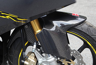 CBR250RR(17年) フロントフェンダー フォークガード一体型 平織りカーボン製 MAGICAL RACING(マジカルレーシング)