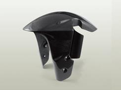 GSX1300R(隼)08年 フロントフェンダー(GSX-R1000タイプ・耐久仕様/フォークガード付)FRP製・黒 MAGICAL RACING(マジカルレーシング)