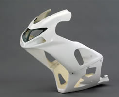 GSX-R1000(01~02年) 2Pアッパーカウル単品 XF Special FRP製・白 MAGICAL RACING(マジカルレーシング)