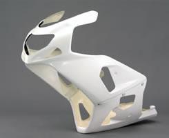 GSX-R600(01~02年) 2P アッパーカウル単品(ストリートSBタイプ)FRP製・白 MAGICAL RACING(マジカルレーシング)
