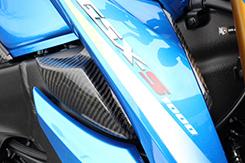GSX-S1000(16年~) サイドインナーダクト (左右セット) 平織りカーボン製 MAGICAL RACING(マジカルレーシング)