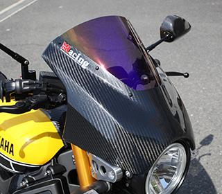 XSR900(16年) アッパーカウル 綾織りカーボン製 クリア MAGICAL RACING(マジカルレーシング)