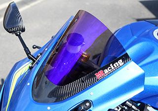 GSX-R1000(17年) カーボントリムスクリーン 平織りカーボン製 クリア MAGICAL RACING(マジカルレーシング)