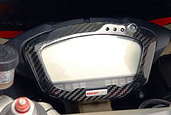 DUCATI 1098 メーターカバー Gシルバー製 MAGICAL RACING(マジカルレーシング)