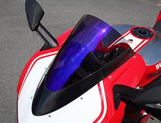 DUCATTI 1299 Panigale(15年~) カーボントリムスクリーン 綾織りカーボン製 スモーク MAGICAL RACING(マジカルレーシング)