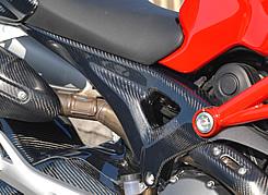 DUCATI Monster696 シートサイドカバー(左右セット)平織りカーボン製 MAGICAL RACING(マジカルレーシング)