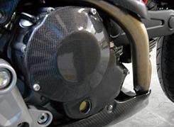 DUCATI Monster696 クラッチカバー フルカバータイプ 綾織りカーボン製 MAGICAL RACING(マジカルレーシング)
