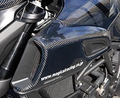 DUCATI Diavel(11~14年) エアダクトカバー・左右セット 綾織りカーボン製 MAGICAL RACING(マジカルレーシング)