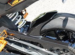 KTM 200DUKE リアフェンダー 綾織りカーボン製 MAGICAL RACING(マジカルレーシング)