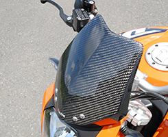 KTM 390DUKE バイザーカウル 綾織りカーボン製 MAGICAL RACING(マジカルレーシング)