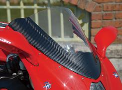 Mv Agusta F4(00~09年) カーボントリムスクリーン 綾織りカーボン製/クリア MAGICAL RACING(マジカルレーシング)