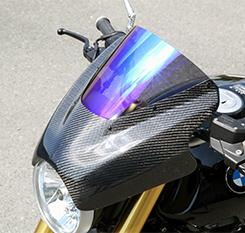 BMW R nine T アッパーカウル 綾織りカーボン製 スモーク MAGICAL RACING(マジカルレーシング)