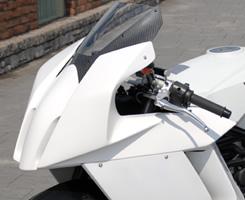 KTM 1190 RC8 アッパーカウル(Dリングカウルファスナー付)FRP製・黒 MAGICAL RACING(マジカルレーシング)
