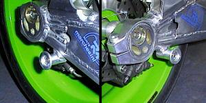 ZRX1200 S1 Type レーシングスタンドフック 左右セット シルバー MORIYAMA(モリヤマエンジニアリング)
