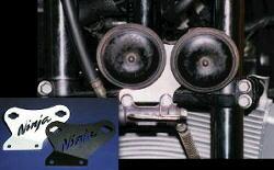 GPZ900R Ninja(ニンジャ) ホーン移動ステー ホーン付 シルバー MORIYAMA(モリヤマエンジニアリング)