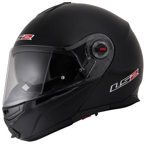 LS2 G-MAC-RIDE ブラックメタリック Lサイズ (フリップアップシステムヘルメット) MHR