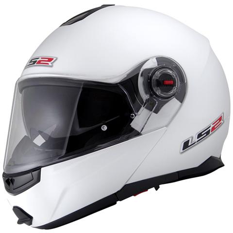 LS2 G-MAC-RIDE パールホワイト Lサイズ (フリップアップシステムヘルメット) MHR