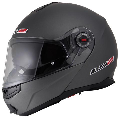 LS2 G-MAC-RIDE マットチタニウム XLサイズ (フリップアップシステムヘルメット) MHR