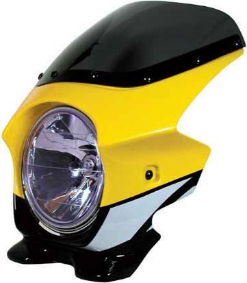 Nプロジェクト ブラスター2 STDスクリーンビキニカウル XJR1300 レディッシュイエローカクテル1 (ストロボ)