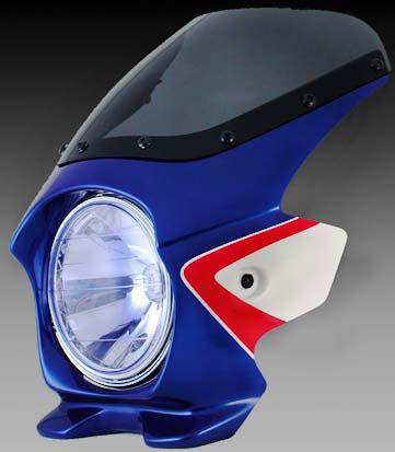 Nプロジェクト ブラスター2 STDスクリーンビキニカウル CB400SF 08 パールヘロンブルー(ツートン)