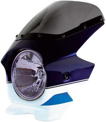 Nプロジェクト ブラスター2 STDスクリーンビキニカウル GSX1400 パールスチルホワイト/パールミディアムブルー