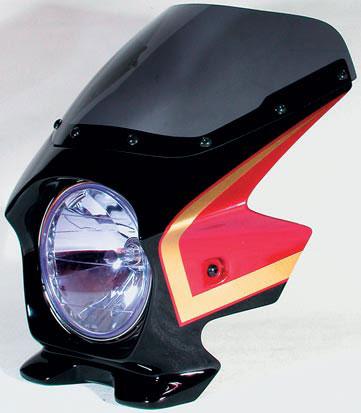Nプロジェクト ブラスター2 STDスクリーンビキニカウル CB750 04~ NIGHTHAWK グラファイトブラック/レッド(ゴールドライン入り)