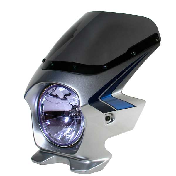 Nプロジェクト ブラスター2 STDスクリーンビキニカウル CB750 04~ NIGHTHAWK デジタルシルバーメタリック(ストライプ)限定スペンサーカラー