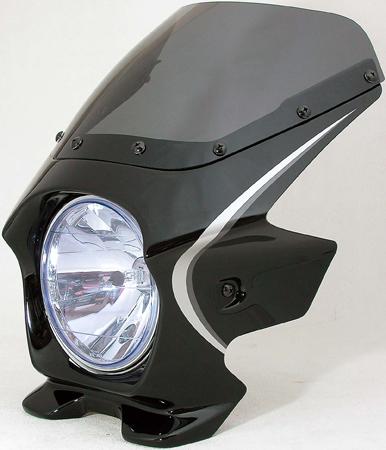 Nプロジェクト ブラスター2 STDスクリーンビキニカウル CB1100 10年 ダークネスブラックメタリック(ストライプ)