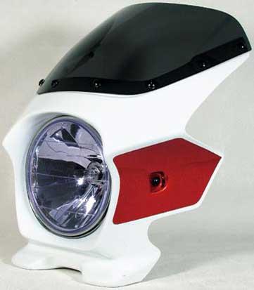 Nプロジェクト ブラスター2 エアロスクリーンビキニカウル CB1300SF 03~ パールフェイドレスホワイト/キャンディアラモアナレッドU