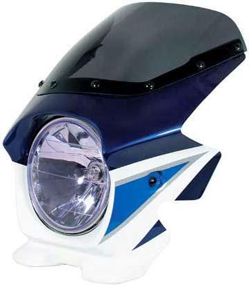 Nプロジェクト ブラスター2 エアロスクリーンビキニカウル GSX1400 スズキディープブルーNO.2/グラススプラッシュホワイト