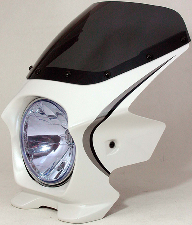 Nプロジェクト ブラスター2 エアロスクリーンビキニカウル CB1100 10年 パールミルキーホワイト(ストライプ)