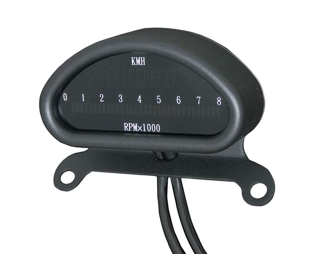 ハーフムーンスピードメーター トップクランプマウント ブラック NEO FACTORY(ネオファクトリー)