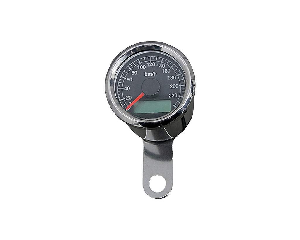 48mm アジャスタブルスピードメーター ステンレス 黒盤 白光 NEO FACTORY(ネオファクトリー)