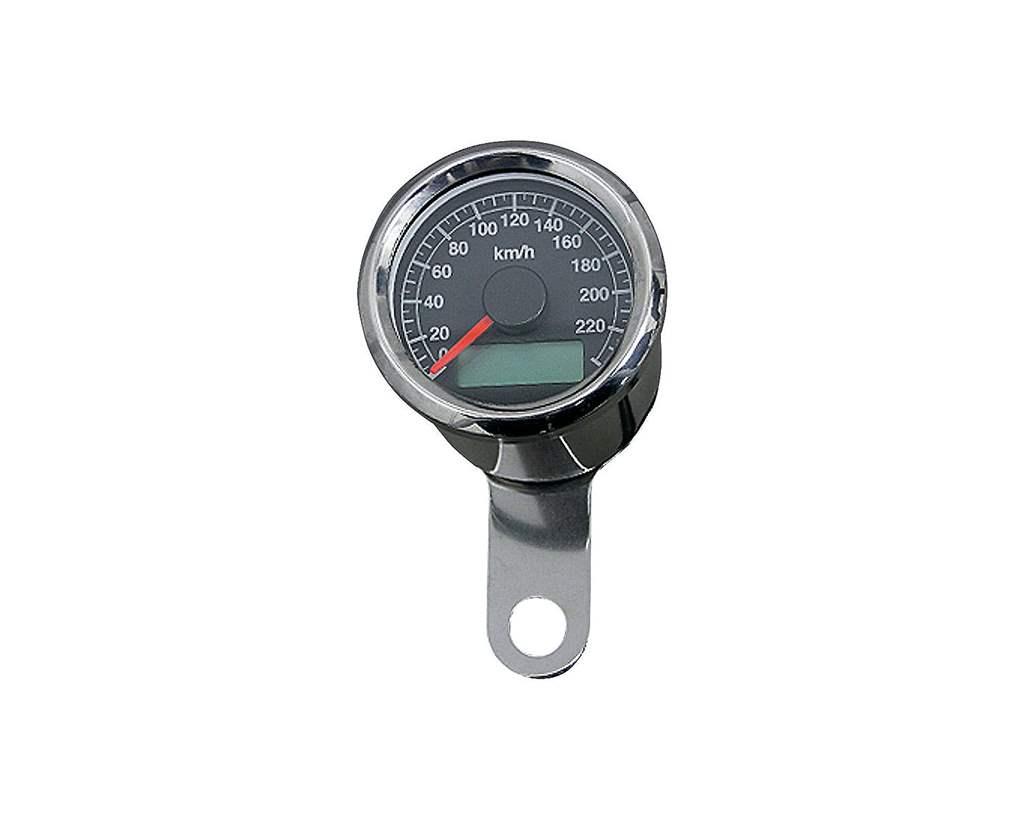 48mm アジャスタブルスピードメーター ステンレス 黒盤 橙光 NEO FACTORY(ネオファクトリー)