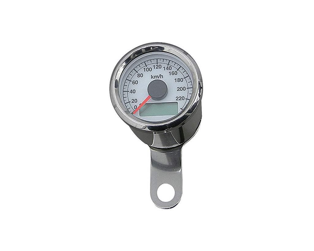 48mm アジャスタブルスピードメーター ステンレス 白盤 白光 NEO FACTORY(ネオファクトリー)