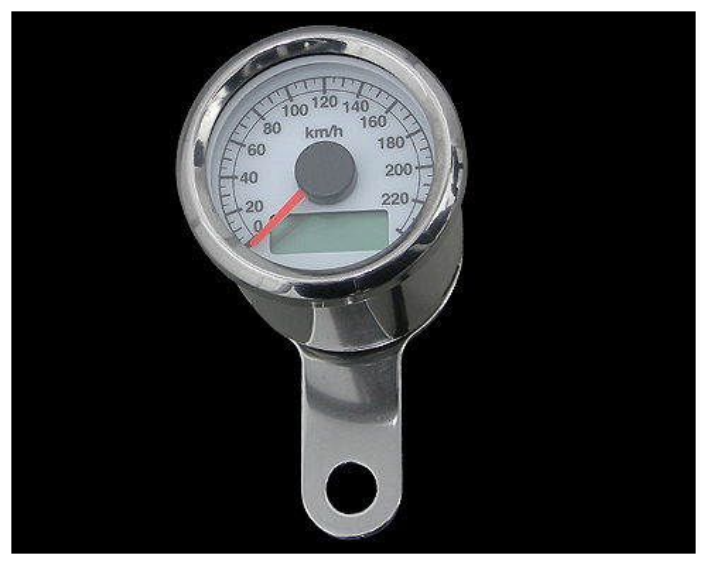 48mm アジャスタブルスピードメーター ステンレス 白盤 橙光 NEO FACTORY(ネオファクトリー)